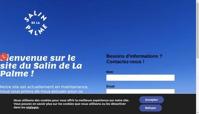 Site internet de Salin de la Palme