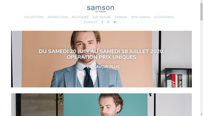 Site internet de Samson sur Mesure