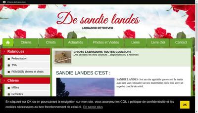 Site internet de De Sandie Landes