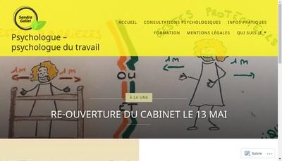 Site internet de Sandra Gallet