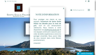 Site internet de Residence Santa Giulia Palace