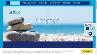 Site internet de Santeol Mediterranee
