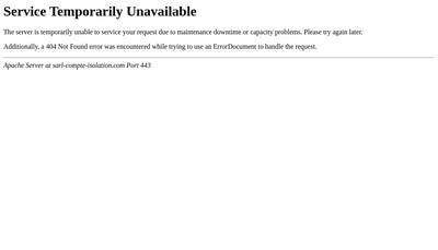 Site internet de Compte Isolation