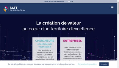 Site internet de Satt Paris Saclay