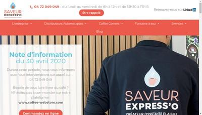 Site internet de Saveur Express'O