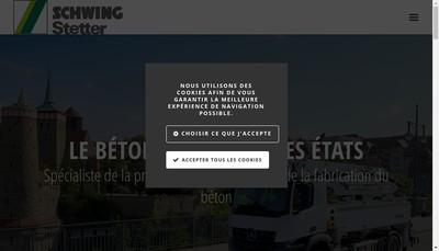 Site internet de Schwing Stetter SA