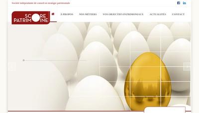 Site internet de Score Patrimoine