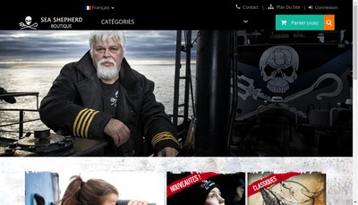 Site internet de Sea Shepherd Boutique