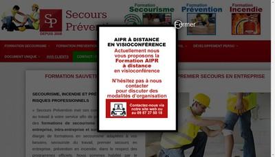 Site internet de Secours Prevention