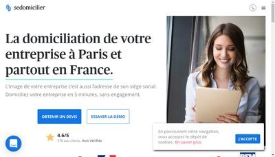 Site internet de SeDomicilier.fr