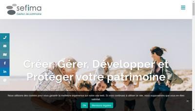 Site internet de Sefima