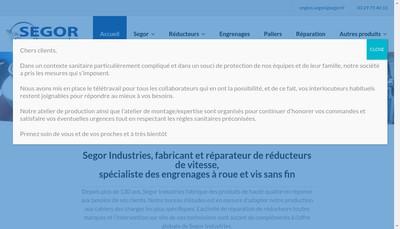 Site internet de Segor Industries