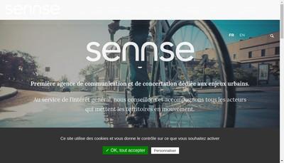 Site internet de Sennse Communication - Enjeux Urbains- Sennse Communicaton & Concertation