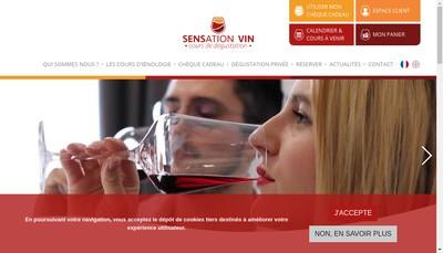 Site internet de Sensation Vin