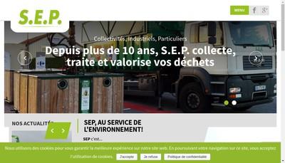 Site internet de Service Environ Proprete Valorisation