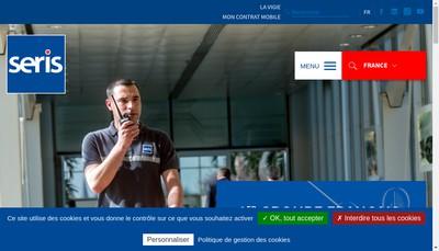 Site internet de Seris Security