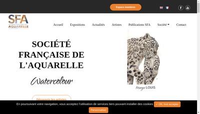 Site internet de Societe Francaise de l'Aquarelle