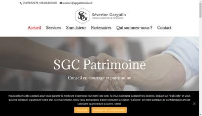 Site internet de Severine Garguilo Conseils Courtage et Patrimoine
