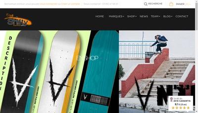 Site internet de Shifty Board Shop