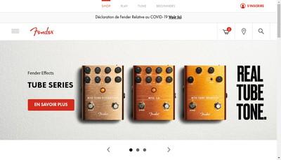 Site internet de Fender Musical Instruments France