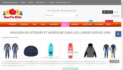Site internet de Hugo Surf N' Kite