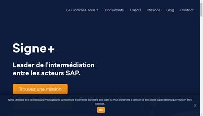 Site internet de Signe +