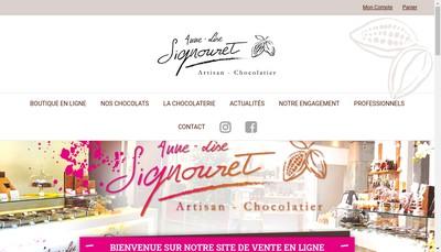 Site internet de AL Signouret - Artisan Chocolatier