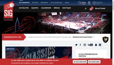 Site internet de Sig Strasbourg