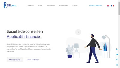Site internet de Silicom Paris