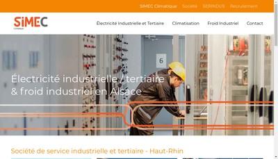 Site internet de SARL Simec Colmar