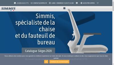 Site internet de Simmis