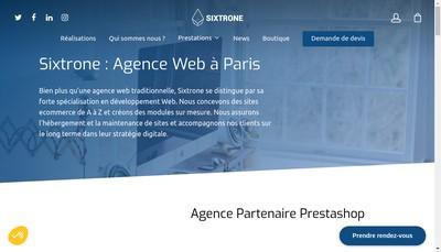 Site internet de Sixtrone