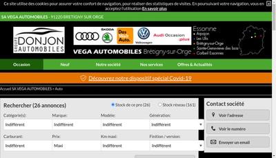 Site internet de SA Vega Automobiles