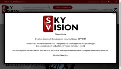 Site internet de Skyvision
