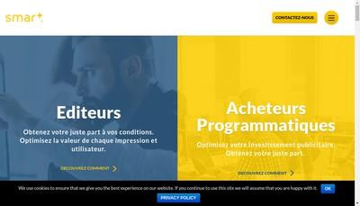 Site internet de Smartadserver