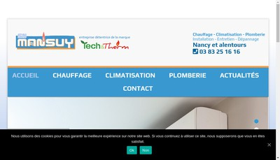 Site internet de Sn Mansuy Thermoclim