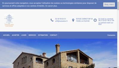 Site internet de Immobiliere Flechoise