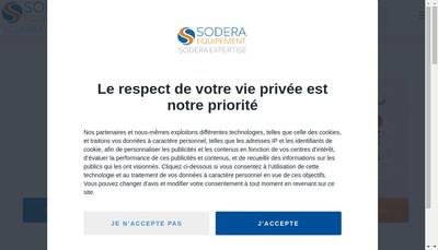 Site internet de Sodera Expertise