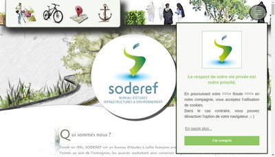 Site internet de Soderef