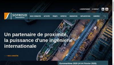 Site internet de Sofresid Engineering