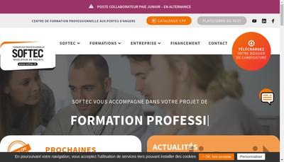 Site internet de SA Softec Avenir Formation