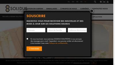 Site internet de Solidus Solutions France