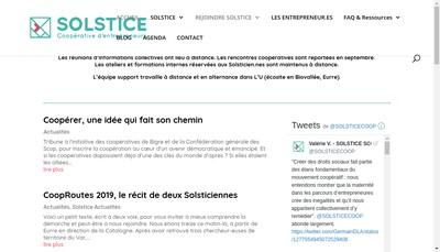 Site internet de Solstice