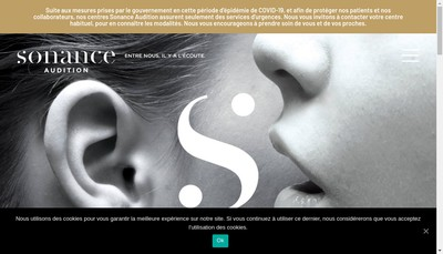 Site internet de Sonance Audition