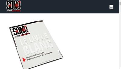 Site internet de Sono Media