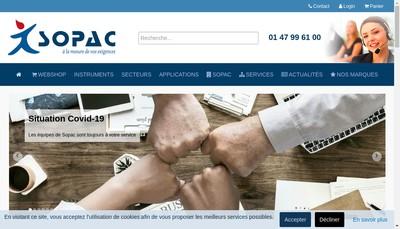 Site internet de Societe Parisienne d'Appareils de Controle SOPAC