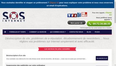 Site internet de Sos Internet
