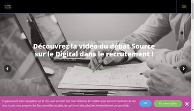 Site internet de Source Tours