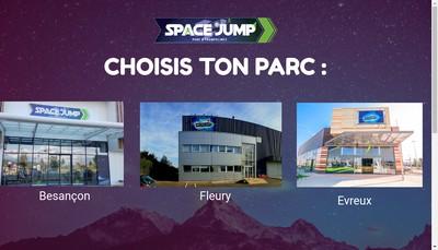 Site internet de Space Jump Trampoline Sport