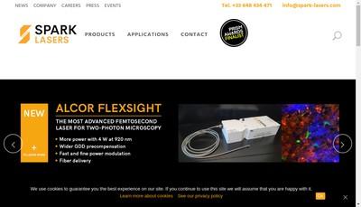 Site internet de Spark Lasers